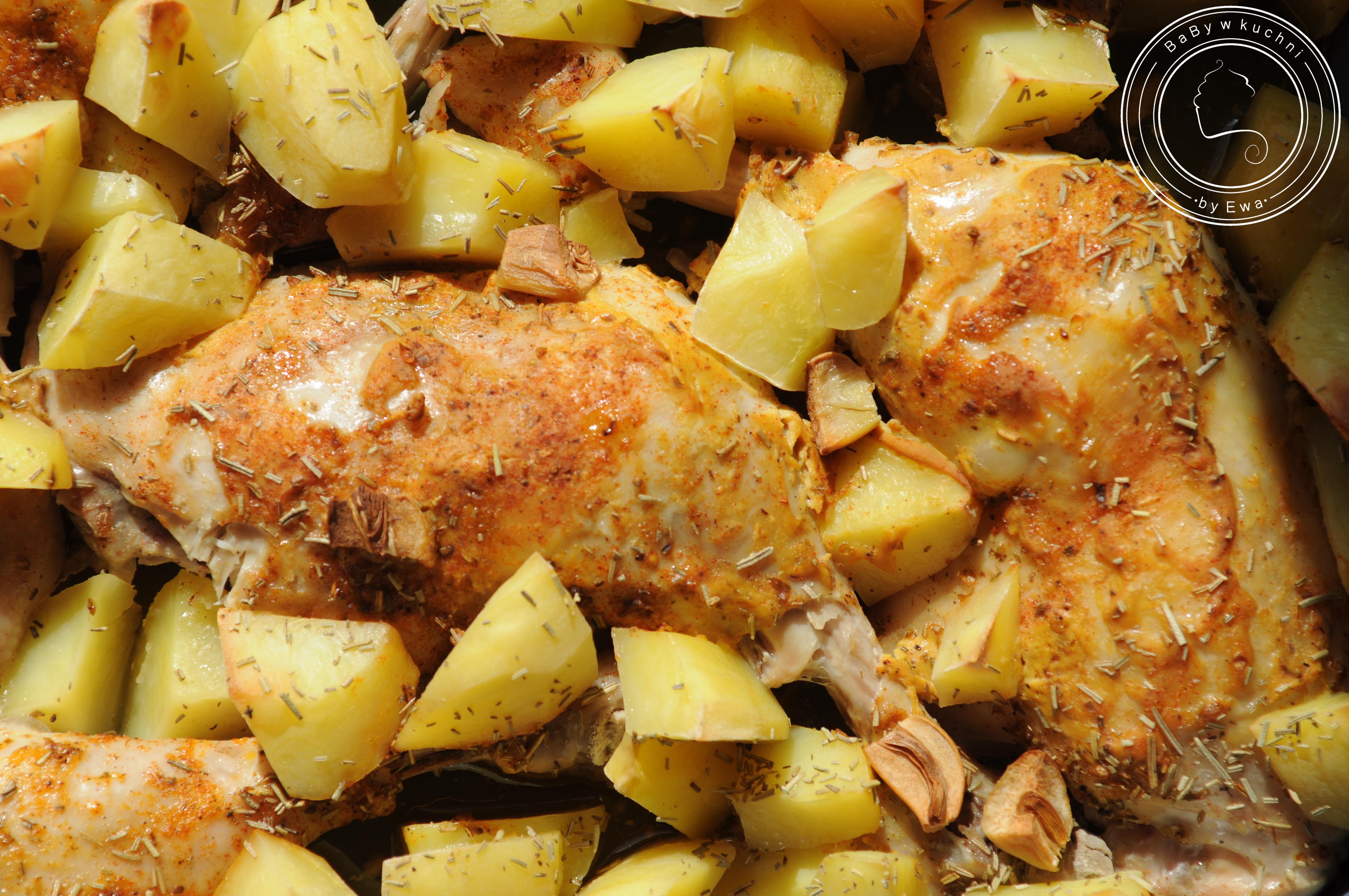 Udka zapiekane z ziemniakami