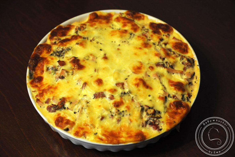 Tarta warzywna z kurczakiem dieta Montignaca