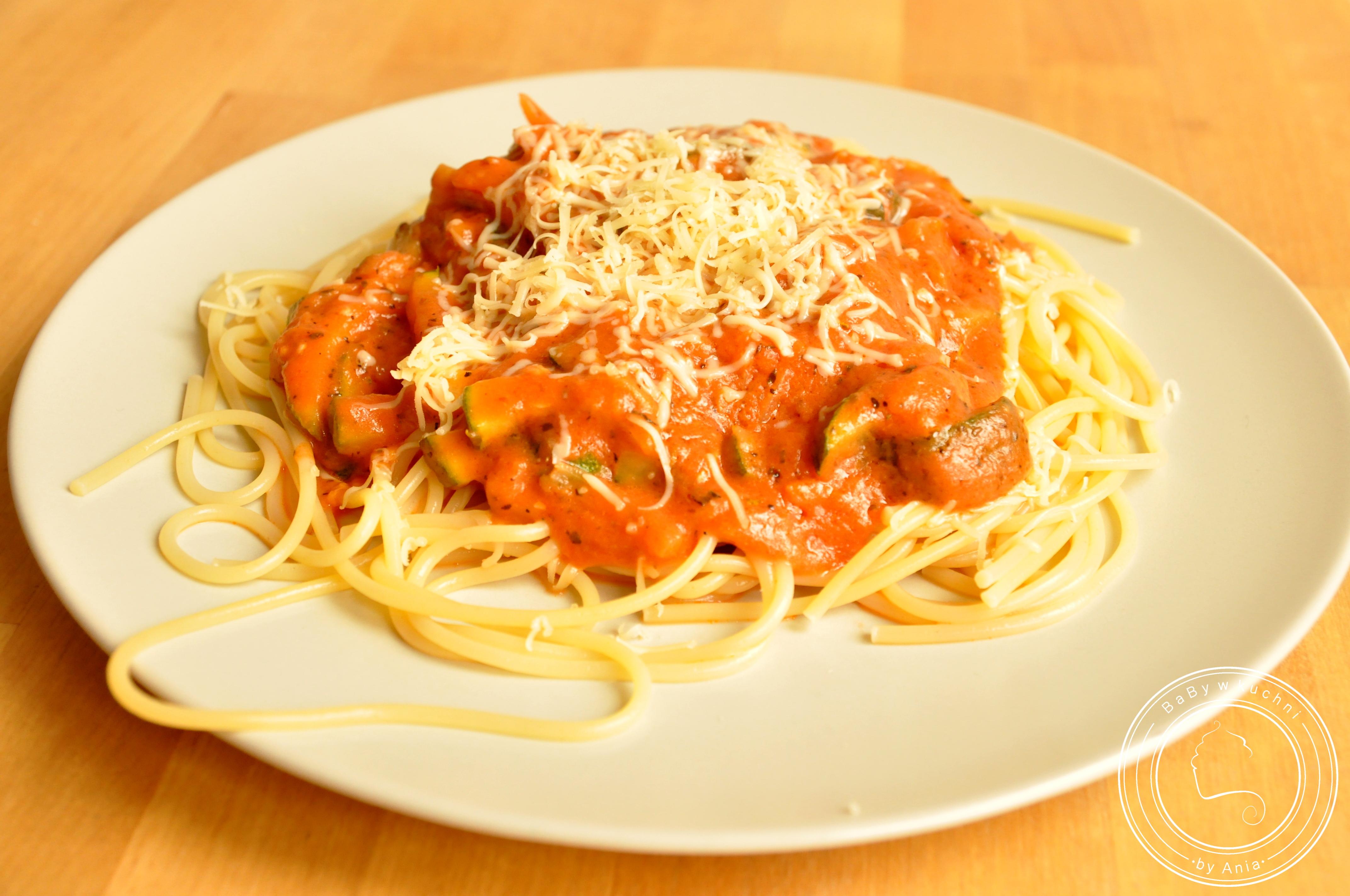 Spaghetti z gorgonzolą