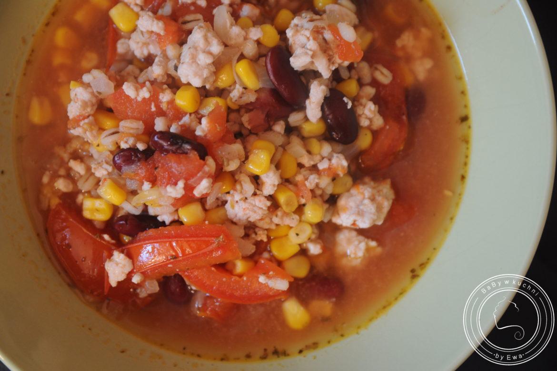 Chili con carne z pęczakiem