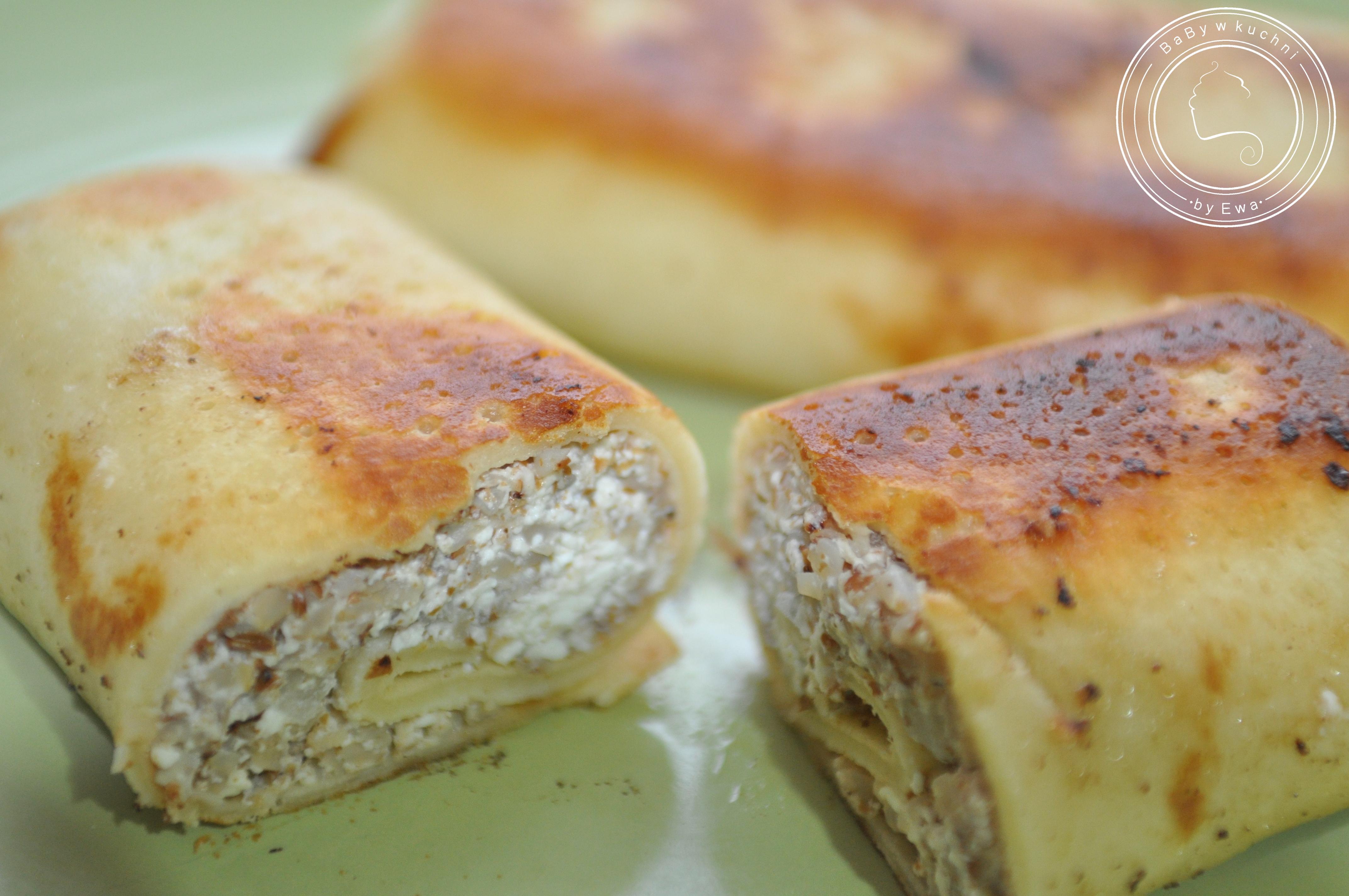 Naleśniki z kaszą i serem