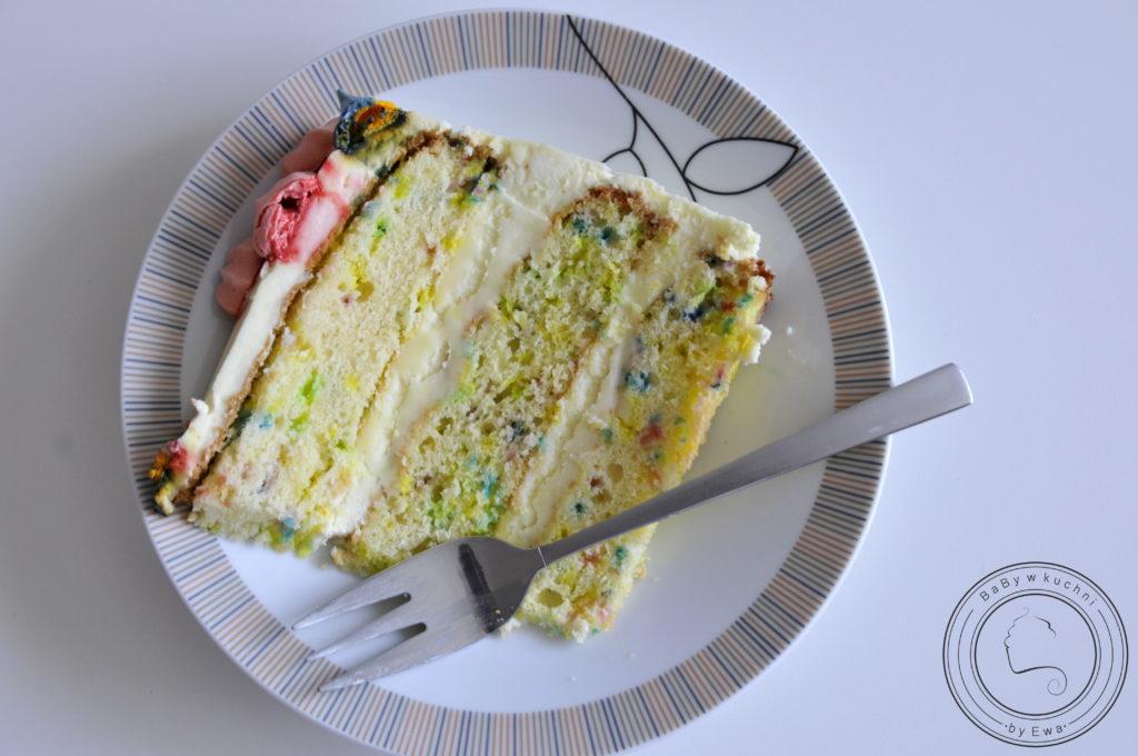 Tort jednorożec tort konfetti