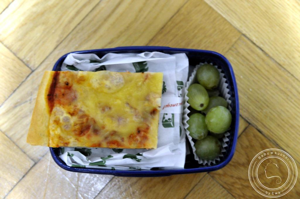 Lunchbox drugie śniadanie do szkoły domowa pizza