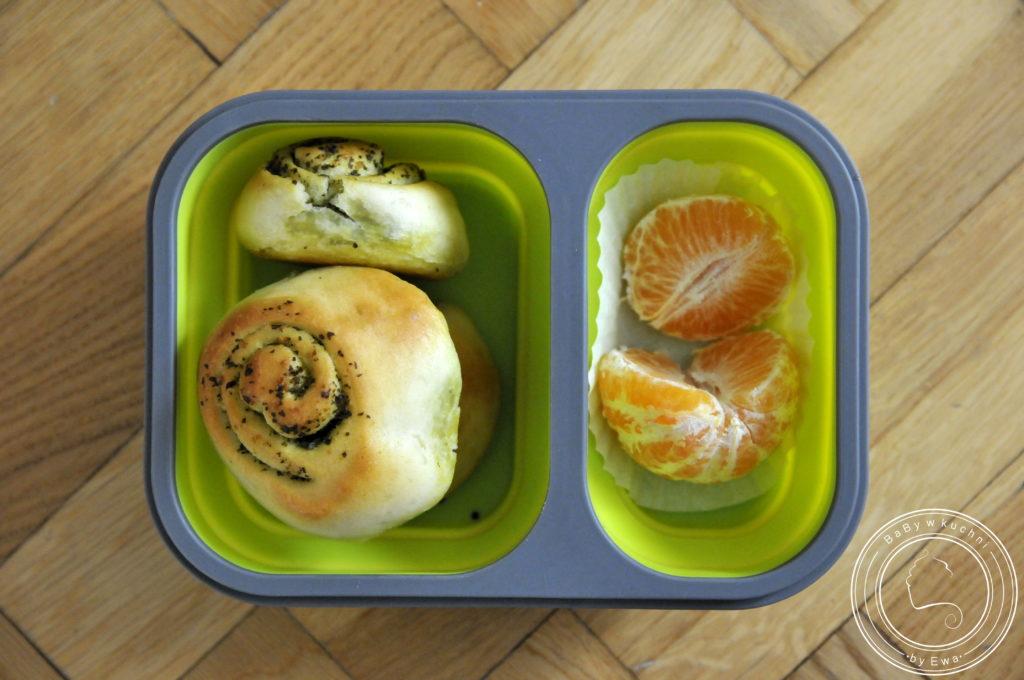 Lunchbox drugie śniadanie do szkoły ślimaczki z pesto