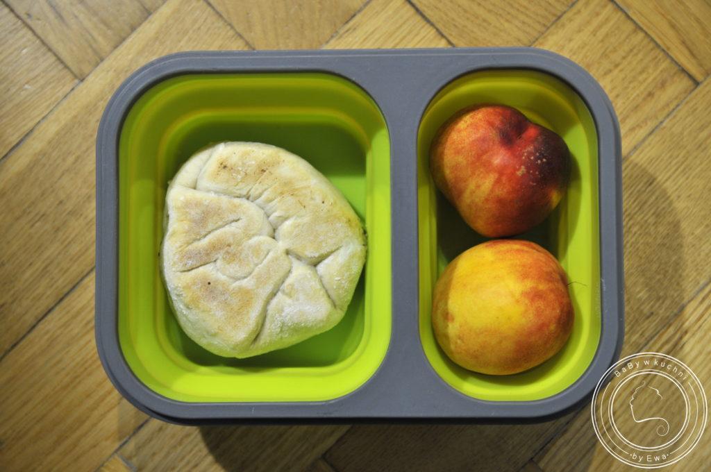 Lunchbox drugie śniadanie do szkoły chaczapuri ze szpinakiem