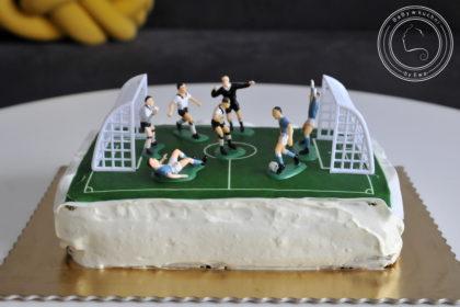Tort z opłatkiem tort boisko piłkarskie