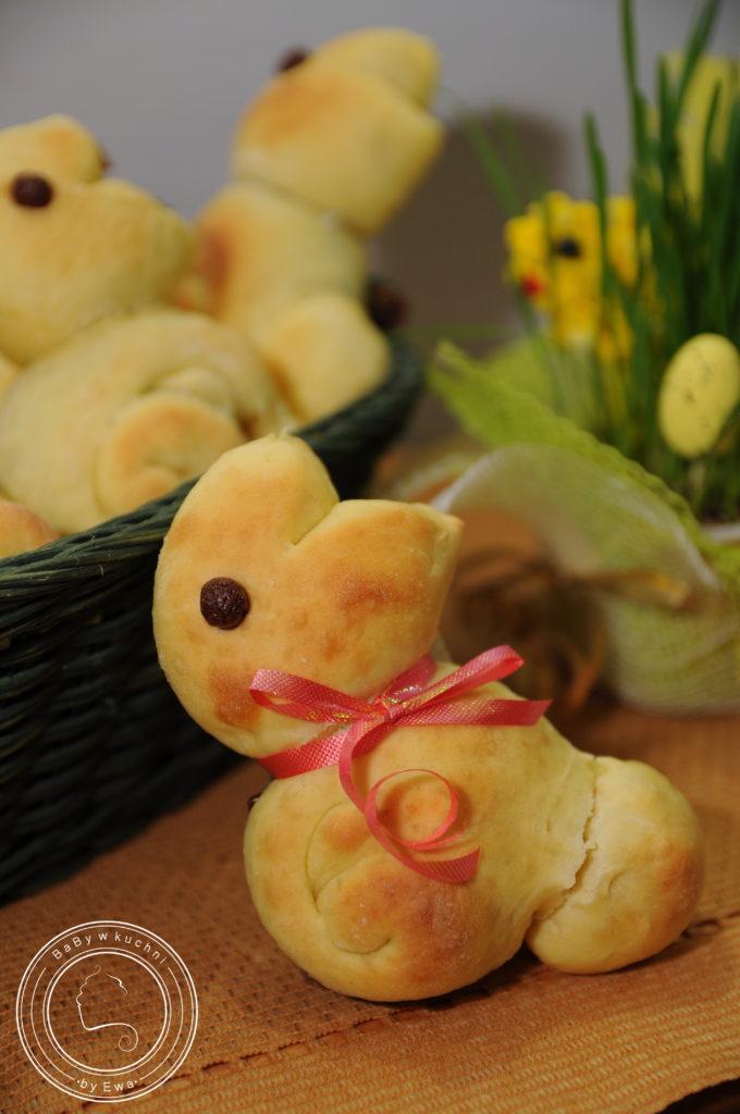 Słodkie wielkanocne króliczki z nutellą i kokosem