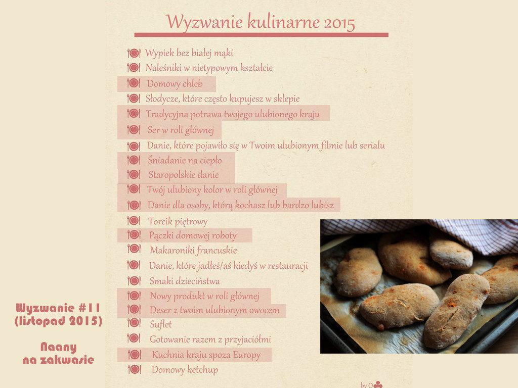 Wyzwanie kulinarne 2015 Kuchnia kraju spoza Europy Naany pomidorowe na zakwasie