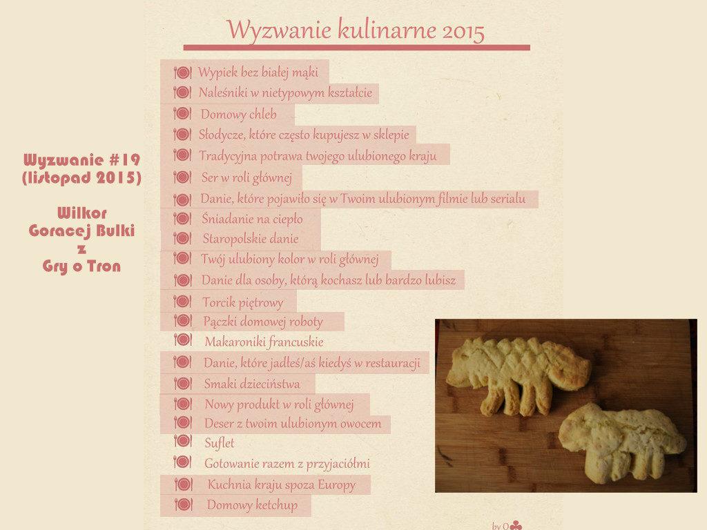 Wyzwanie kulinarne 2015 Danie z filmu serialu Wilkor Gorącej Bułki