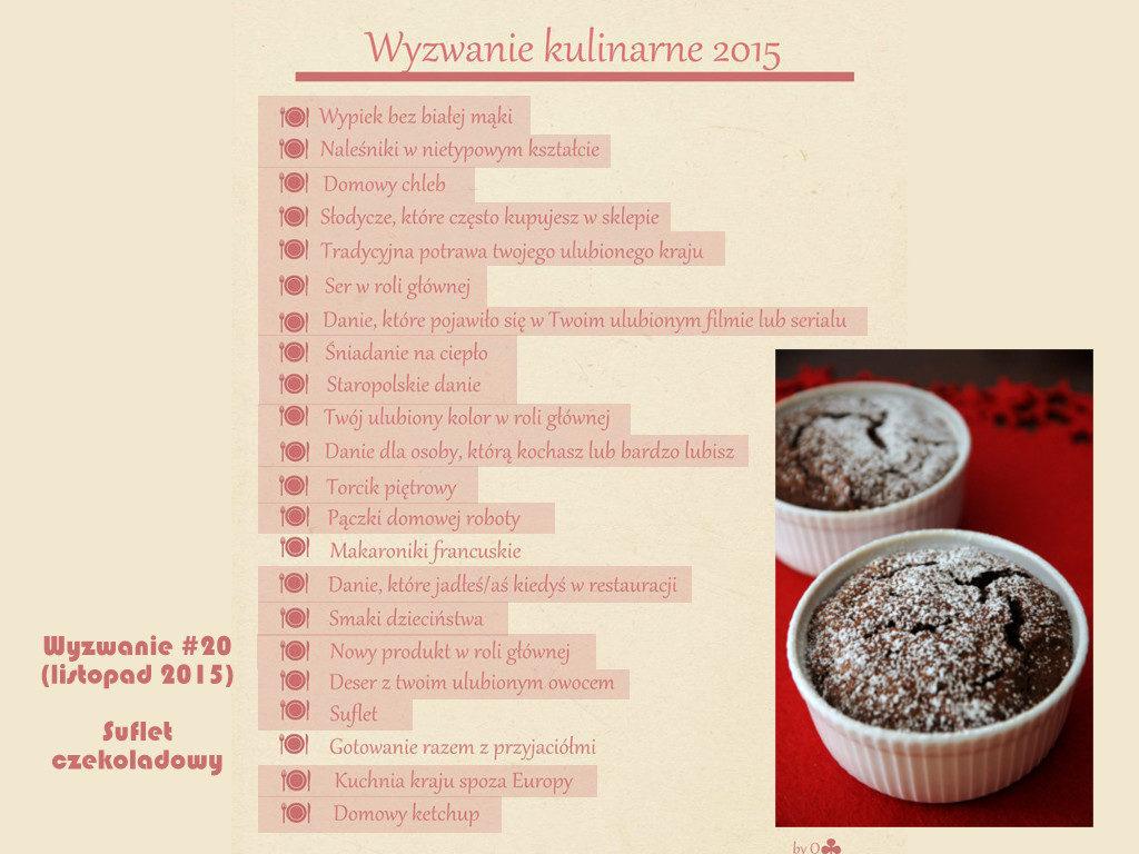 Wyzwanie kulinarne 2015 Suflet Suflet czekoladowy
