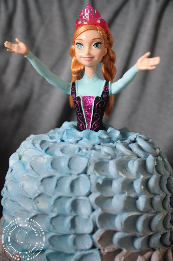 Tort z Krainy Lodu Tort z lalką