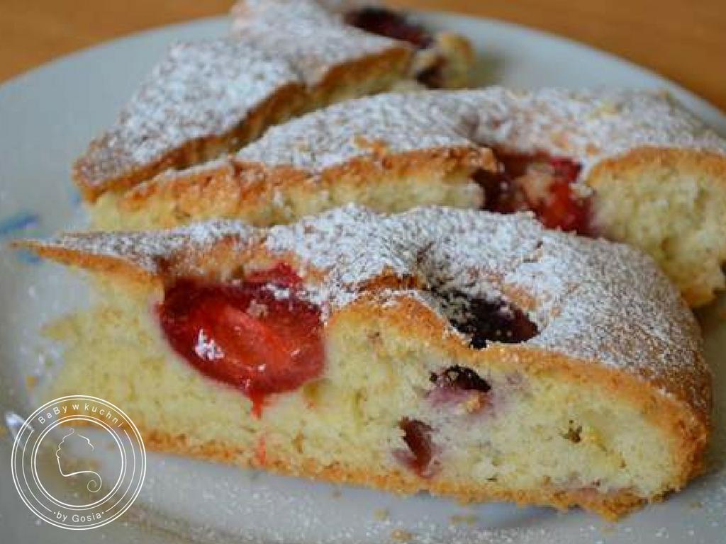 Błyskawiczne ciasto z owocami