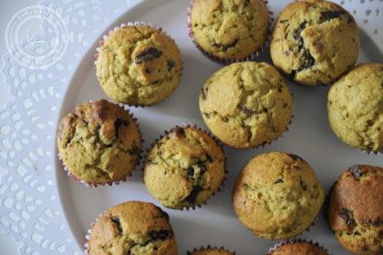 Muffinki bananowo-dyniowe z czekoladą