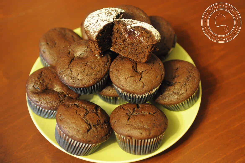 Korzenne muffinki z powidłami śliwkowymi